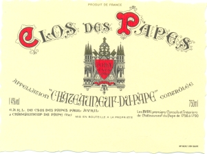Chateauneuf du Pape Clos des Papes, Label